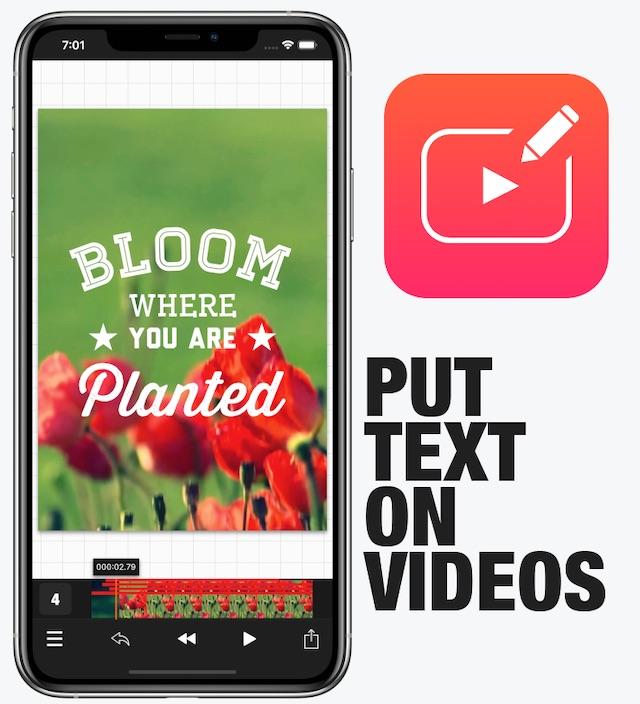 Vont Text On Videos